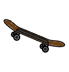 skate board isolated icon vector image