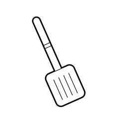 Spatula cutlery isolated icon vector