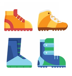 Sport Boots for Outdoor Activities vector image