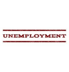 Unemployment watermark stamp vector