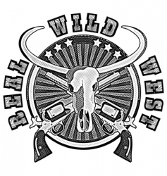wild west engraving vector image