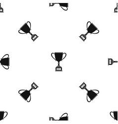 Winner cup pattern seamless black vector
