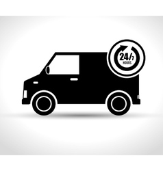Service delivery 24-7 business grpahic vector