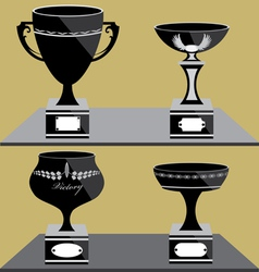 Set of trophies icon vector