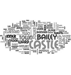 Barnard castle text word cloud concept vector