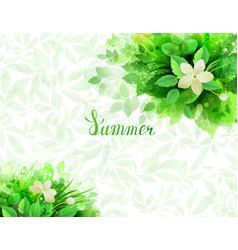 Summer background with composition of branches vector