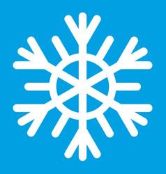 Snowflake icon white vector