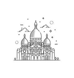 Minimalistic line-art landmark icon of the sacre vector