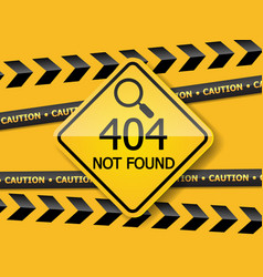 404 error page not found label vector image