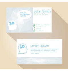 Light color white simple business card design vector