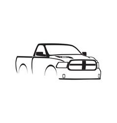 4th gen ram single cab sport hood silhouette vector
