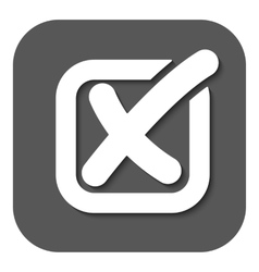 The check icon checkmark and checkbox no voting vector