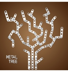 Metallic tree vector