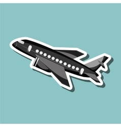 Airplane design editable vector image