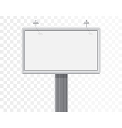 billboard isolated on the alpha white background vector image