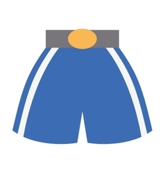 Boxing shorts uniform isolated icon vector