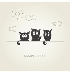 Cute cats vector