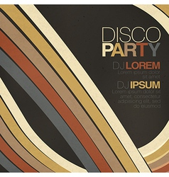 disco party retro styled flyer vector image vector image