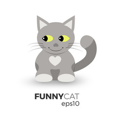 funny cat vector image vector image