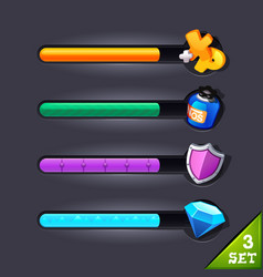 game resource bar-set 3 vector image vector image
