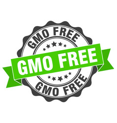 Gmo free stamp sign seal vector