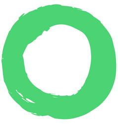 green brushstroke circular shape vector image vector image