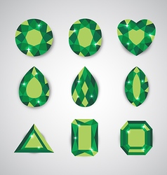 green gem vector image vector image