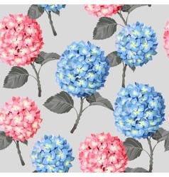 Hydrangea flower seamless vector image vector image