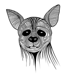 Hyena animal sketch tattoo symbol vector