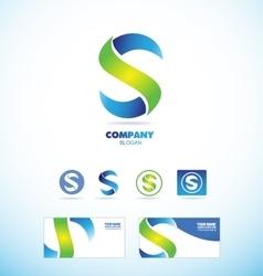Letter s logo icon set vector