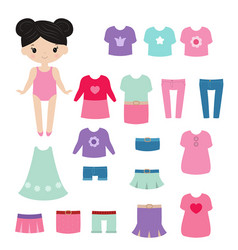 Paper doll paper doll vector