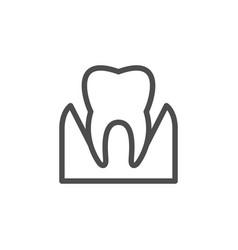 parodontosis line icon vector image vector image
