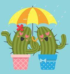 Rain cactus vector