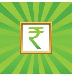 Rupee picture icon vector