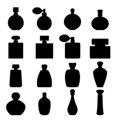 set of perfume icons vector image vector image