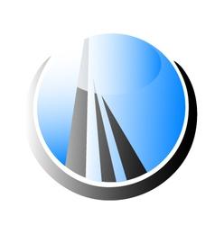 Skyscraper building logo vector image vector image