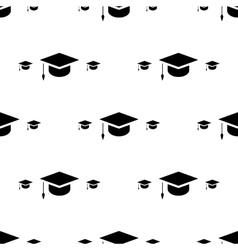 Student cap graduation hat icon seamless pattern vector