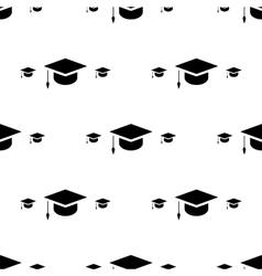 Student cap graduation hat icon seamless pattern vector