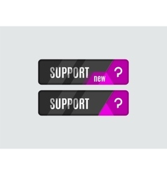 Support button futuristic hi-tech UI design vector image