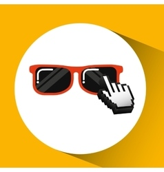 Traveling concept technology sunglasses design vector