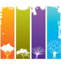tree grunge banners vector image vector image