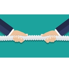 Tug of war business competition concept vector