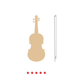 violin it is icon vector image