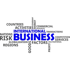 Word cloud international business vector