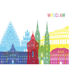 wrodaw skyline pop vector image