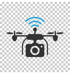 Radio camera drone icon vector