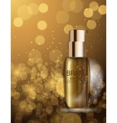 Skin toner bottle template for ads or magazine vector