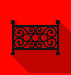 fence icon in flat style isolated on white vector image