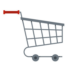 shopping cart icon isolated vector image