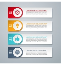Infographic design number options template vector